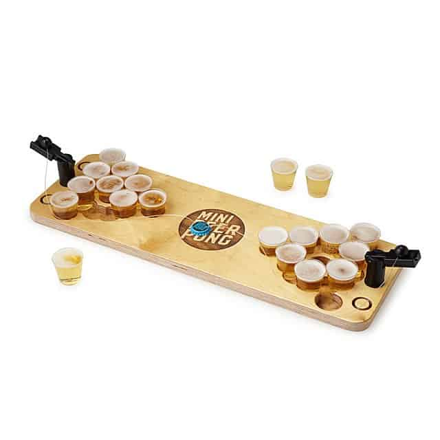 bachelor party games ideas - mini beer pong