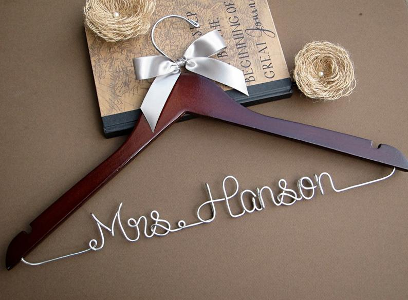 wedding hanger personalized