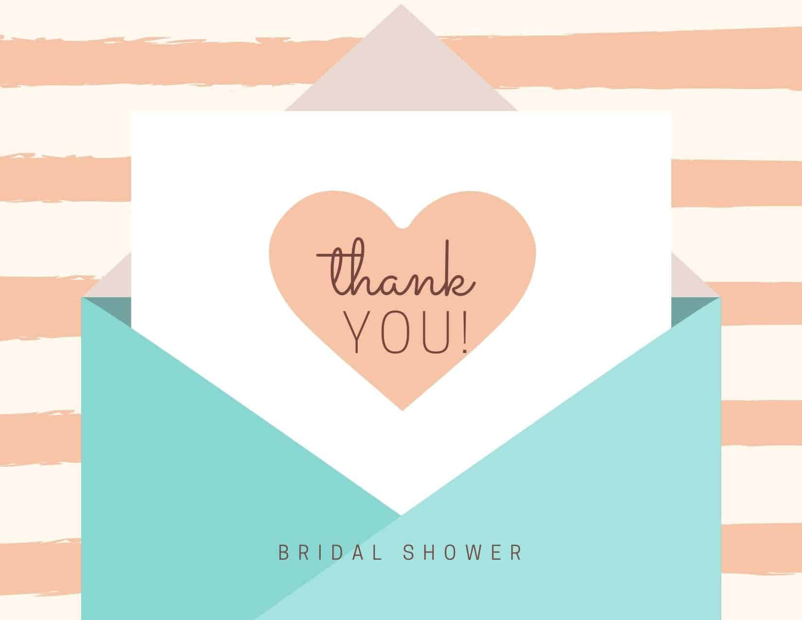bridal shower thank you notes banner