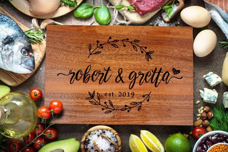 personalized wedding gifts - cutting board
