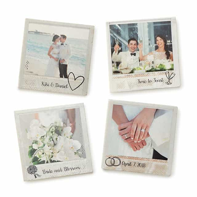 personalized wedding gifts - coasters