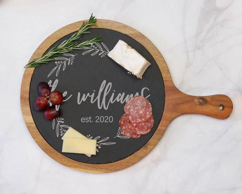 personalized wedding gifts - round cheese board