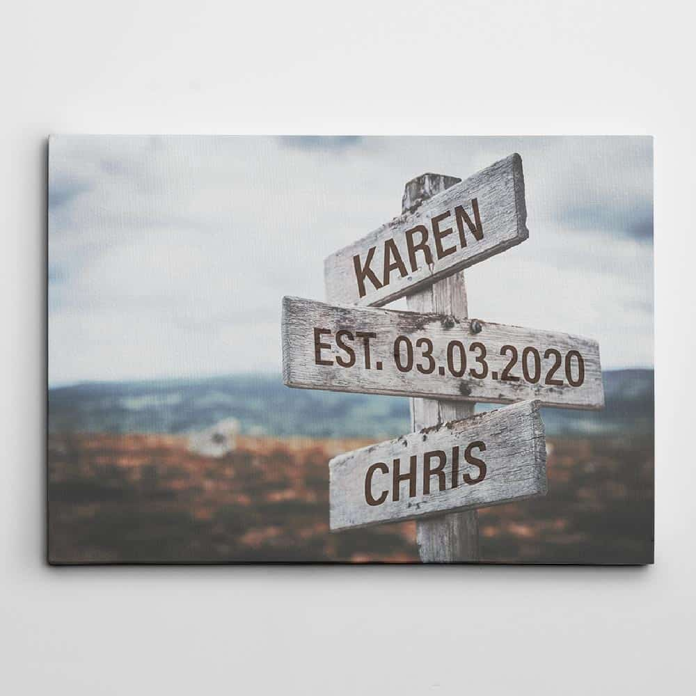 personalized wedding gifts - street sign custom name