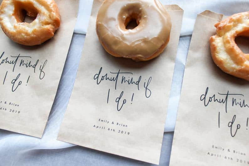 wedding favor ideas - donut