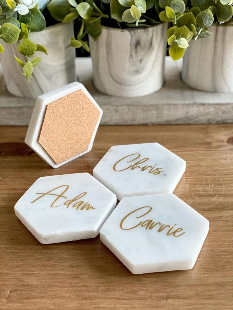 Marble Place Cards - practical wedding favor