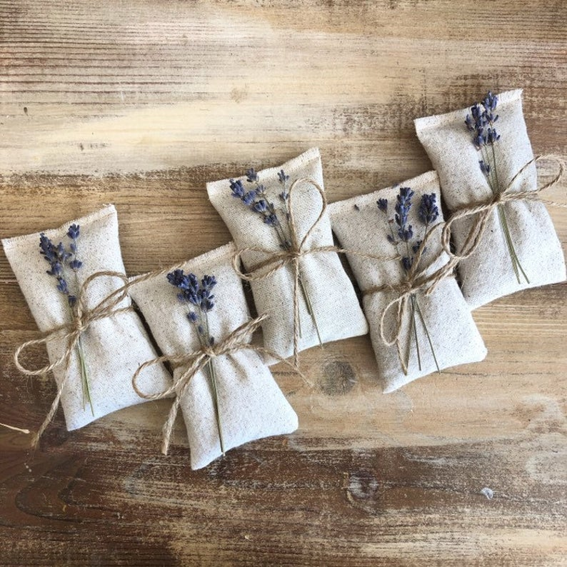 lavender bags - cheap wedding favors