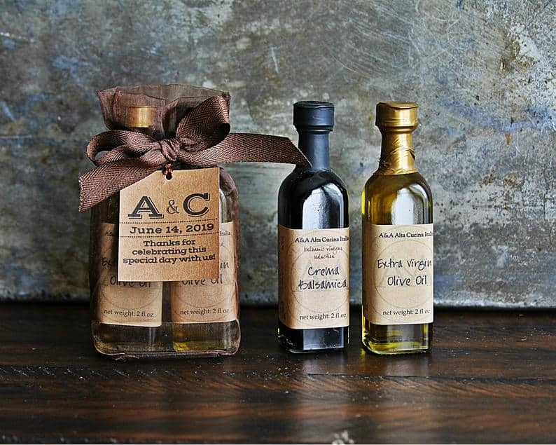wedding favor ideas - olive oil