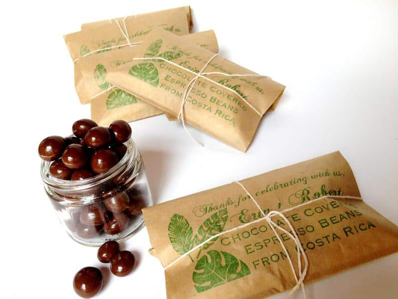 wedding favor ideas - chocolate beans