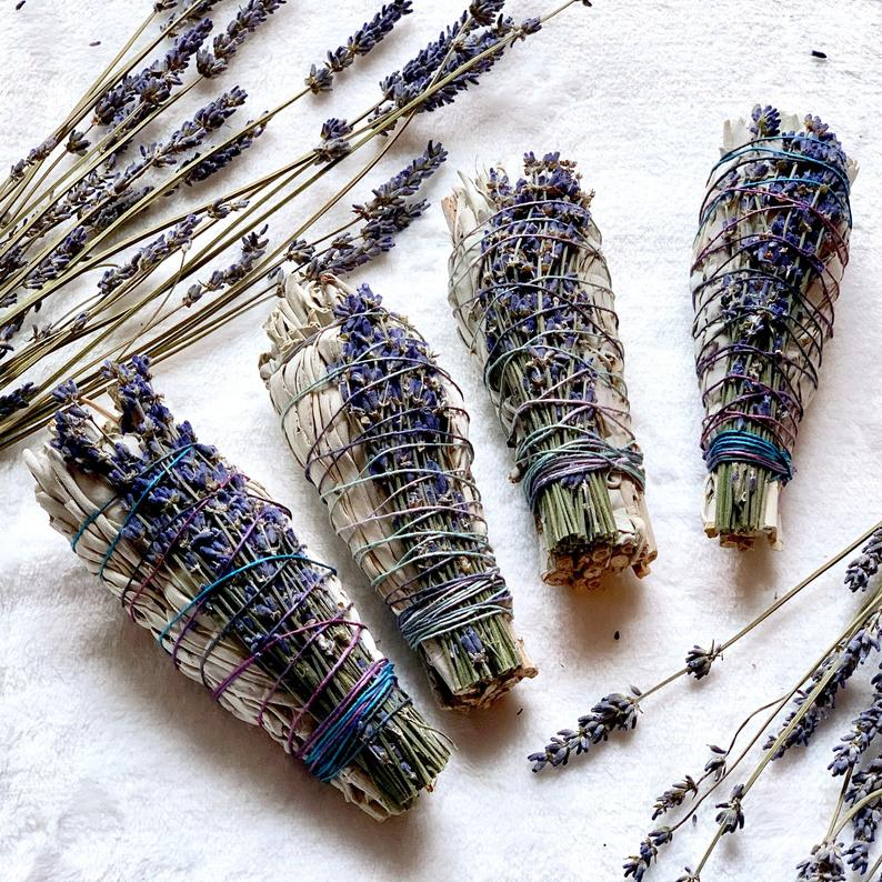 lavender white sage