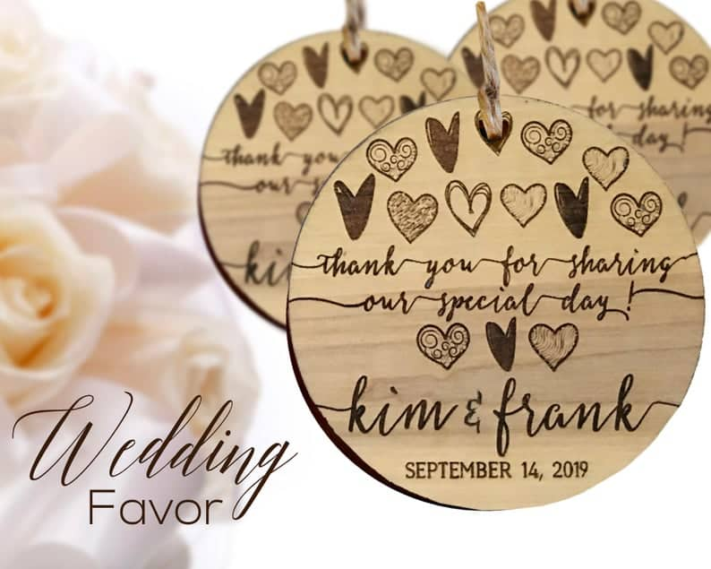 wedding favor ideas - thank you ornament
