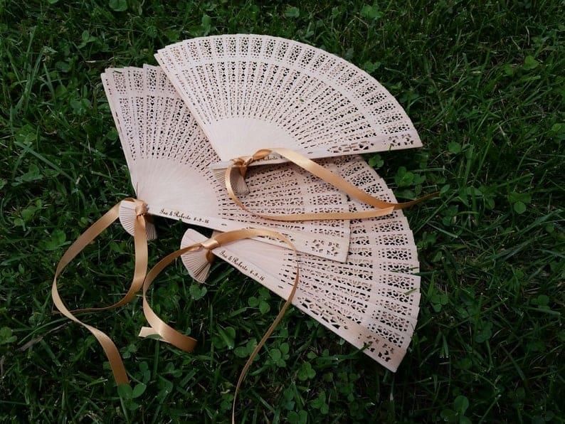 wedding favor ideas - hand fans
