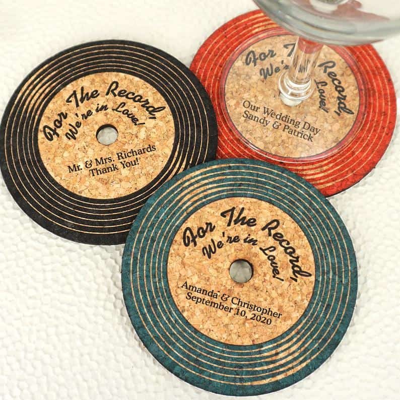 wedding favor ideas - coasters