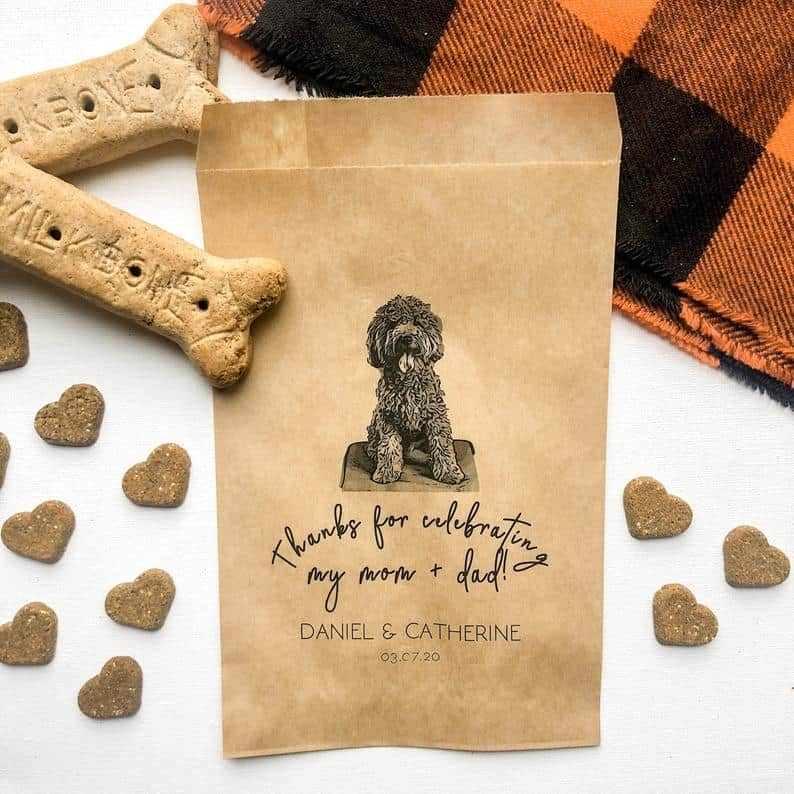 wedding favor ideas - custom pet bags