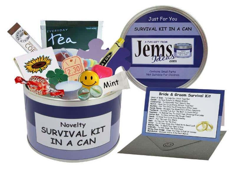 wedding gift ideas - survival kit can