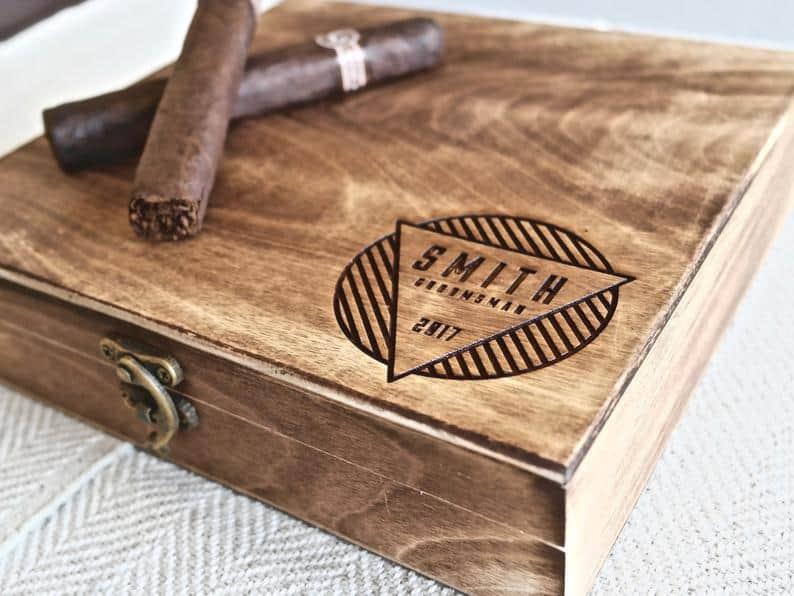 wedding gifts - cigar box