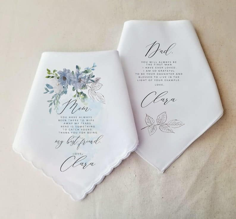 handkerchief for mom and dad