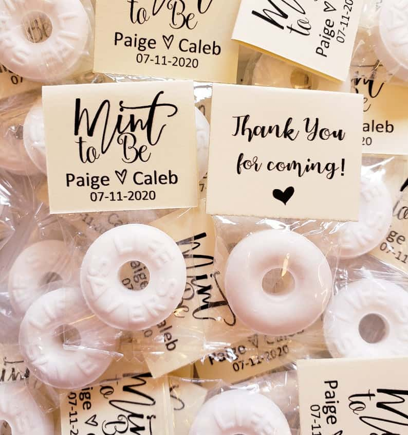wedding gifts - mints