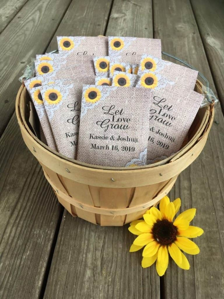 wedding gifts - seed packets