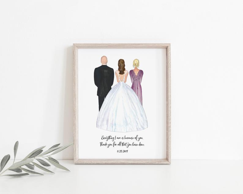 wedding gift - custom mom and dad canvas print