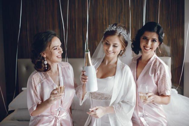 cool bridal shower themes:Glam Pajama Party