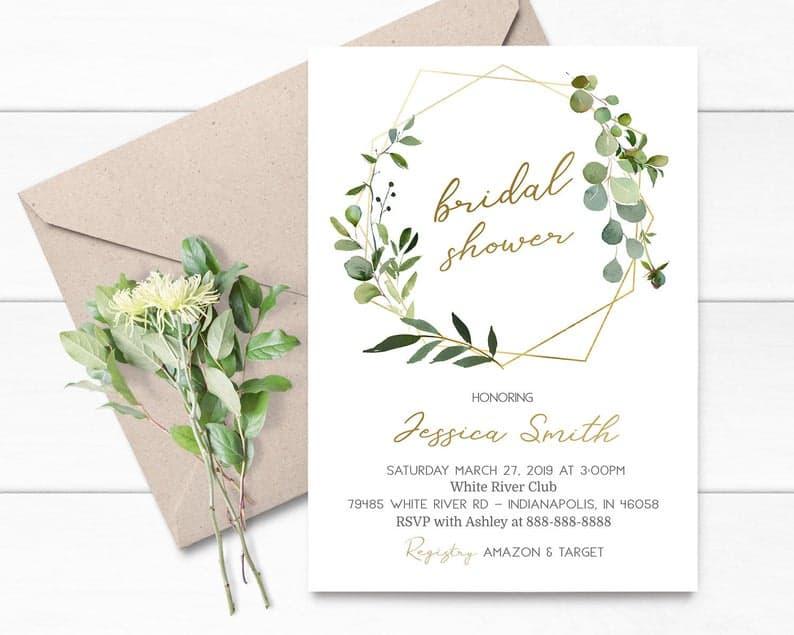 garden themed - Bridal Shower invitation wording