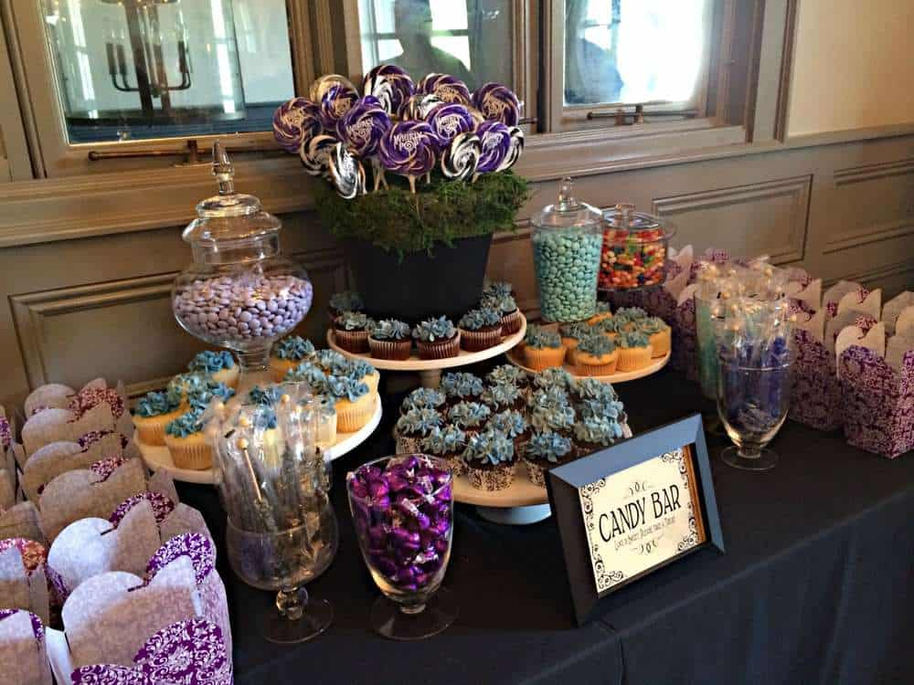 bridal shower party - candy table