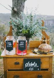 bridal shower decoration ideas - drink stations
