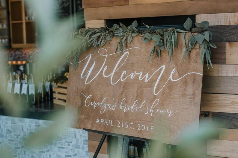 bridal shower welcome signs