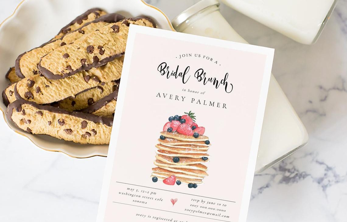 bridal shower invitation wordings - brunch