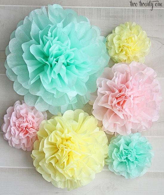 bachelorette party props:DIY Tissue Paper Pom Poms