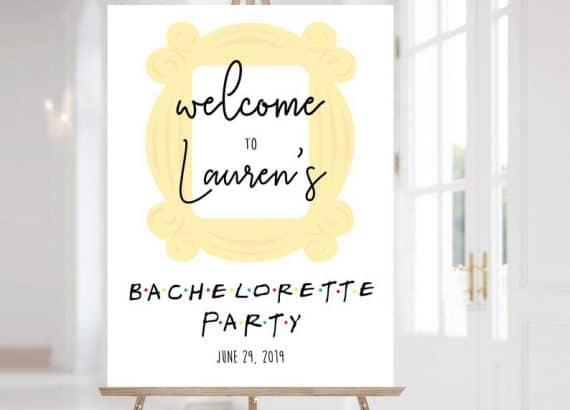 bachelorette decor:FRIENDS Welcome Sign Bachelorette Party $