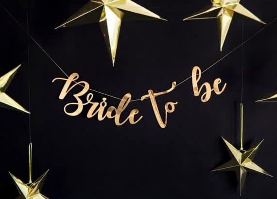 decorations for bachelorette party:Gold Bride to Be Banner