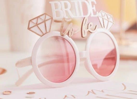 bachelorette party decoration ideas:Rose Gold Sunglasses
