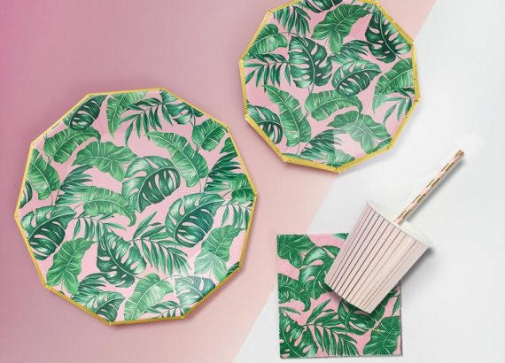 Tropical Luau Party Tableware Set