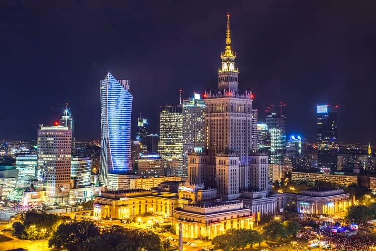 best places to go for a bachelor party - Warsaw, Poland