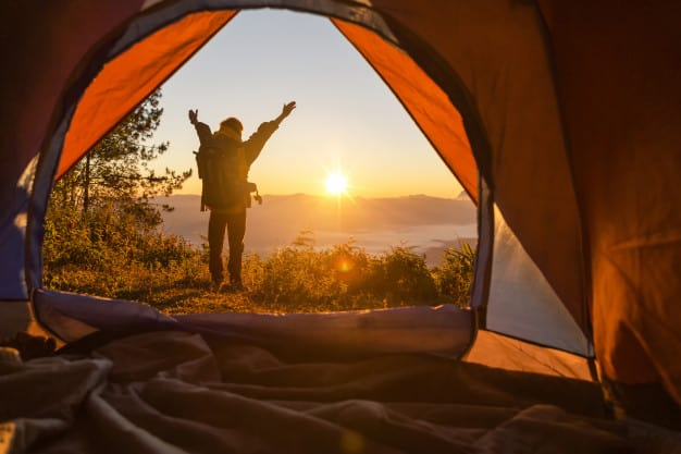 bachelor party ideas - go camping