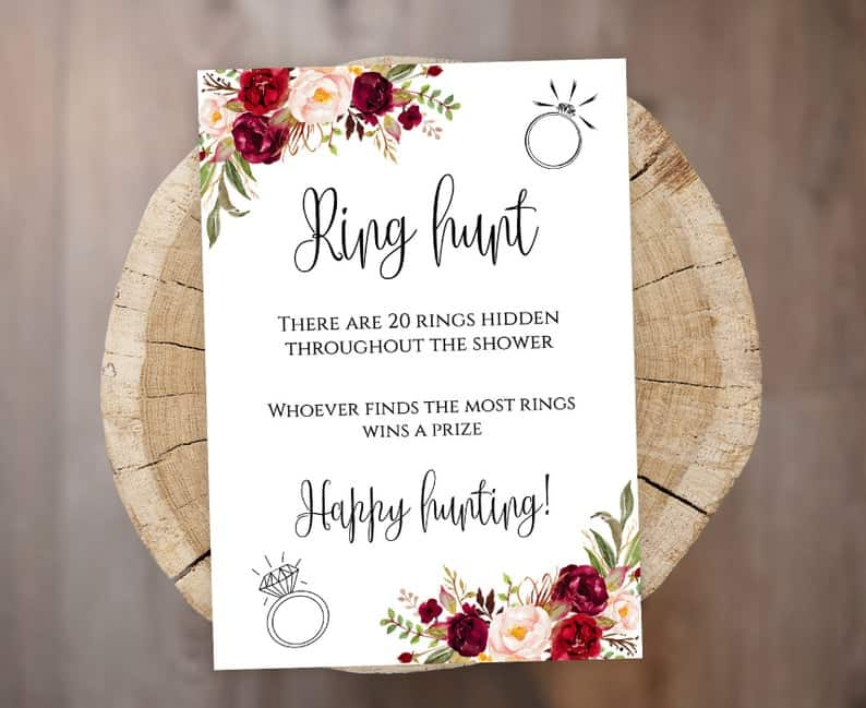 Ring hunt - bachelorette party games