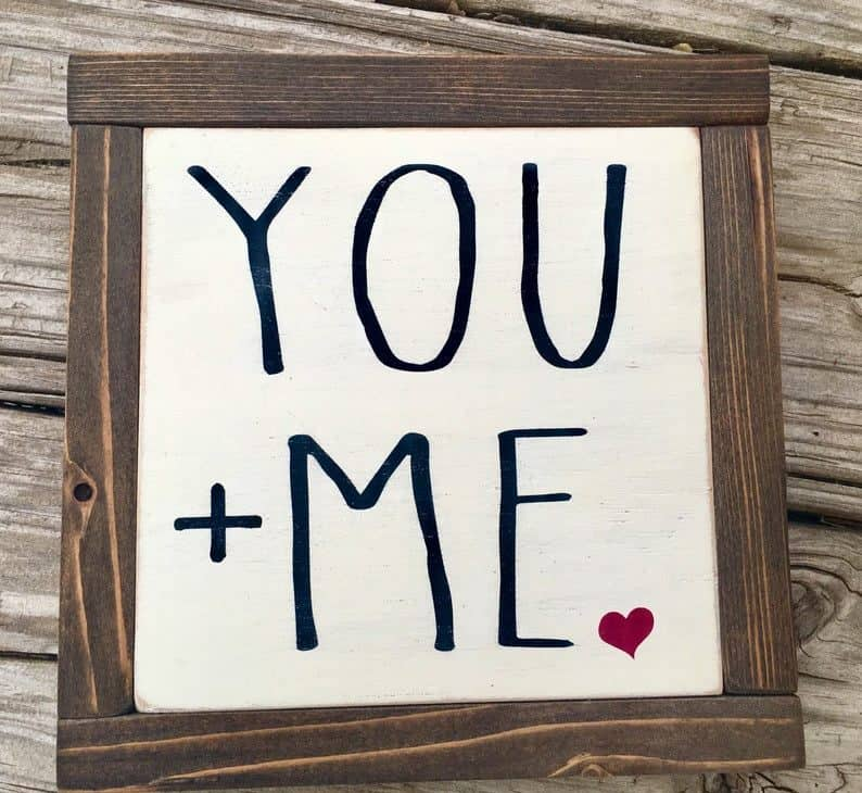 engagement party decorations - you and me decor wood
