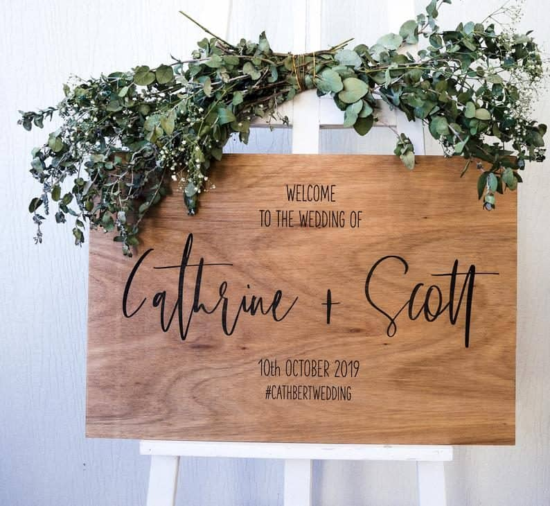 engagement party decorations - welcome sign