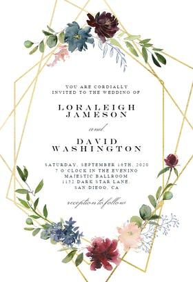 traditional wedding invitations: floral invitation