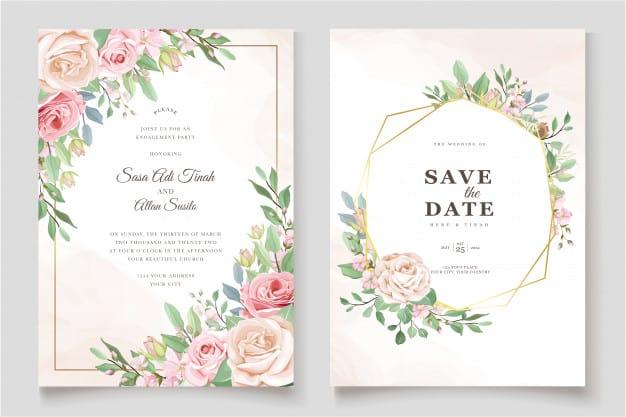 wedding invitation sample: invitation template