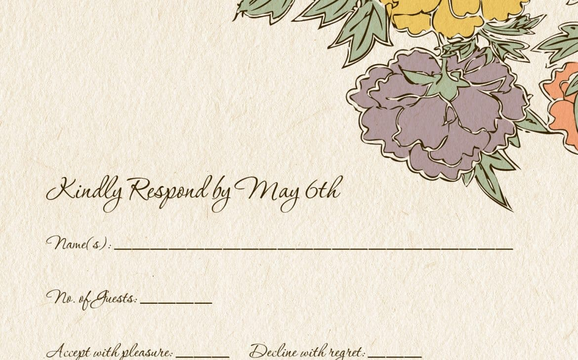 wedding invite wording from bride and groom:rsvp card