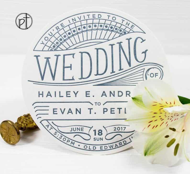 creative wedding cards:Coaster Invitations
