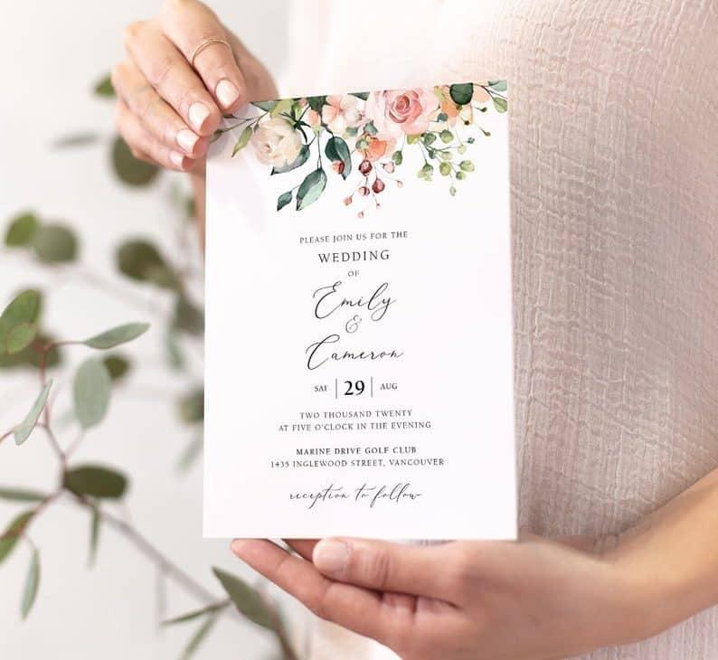 unique invite ideas:Flower Template