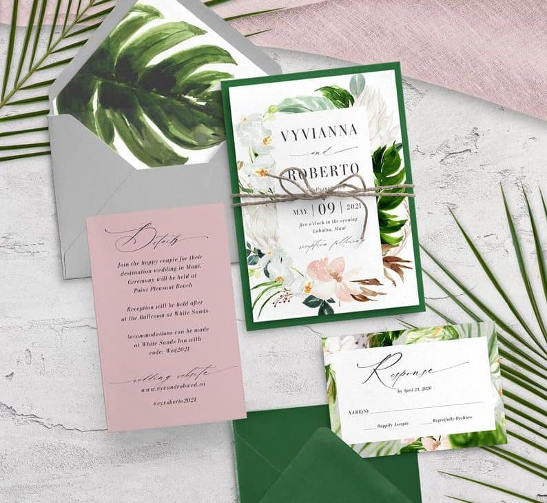 Green and Blush Wedding