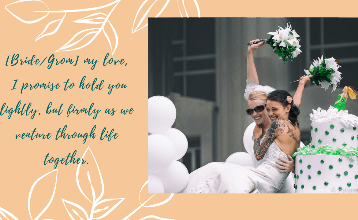 lesbian marriage quotes:Lesbian Wedding Vow
