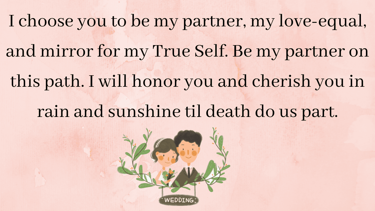 beautiful wedding vows:Long Non-Traditional Wedding Vows for her