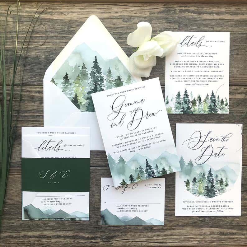 creative invitations:Majestic Mountains