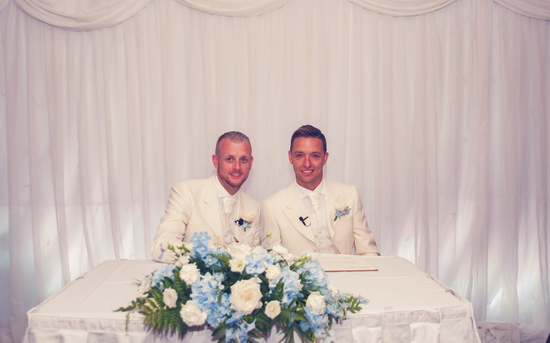 same sex wedding ceremonies:Mr-&-Mr-Moore
