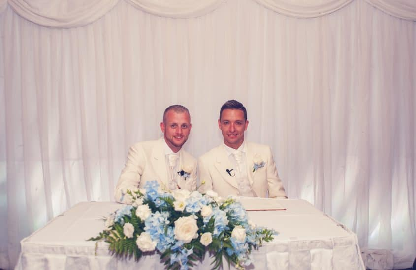 same sex wedding ceremonies:Mr-&-Mr-Moore